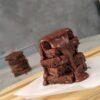 Torta Brownies al Cioccolato Fondente con Caramello salato